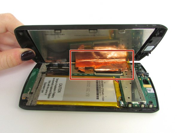 Image 2/2: Be careful not to tear the foil which connects the LCD screen to the motherboard!