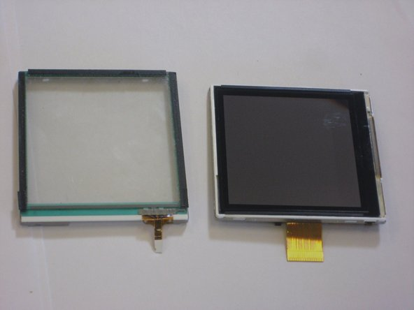 Now you should have both the touch screen and LCD screen detached from one another.