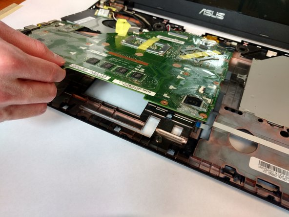 Flip the motherboard to show the underside.