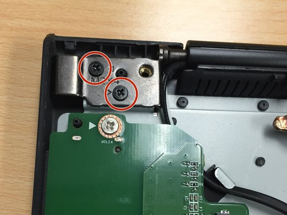 Image 2/3: The right hinge only has 1 screw. You may need to  pull the charging port up and out of the way so you can get a better view of the 1 hinge screw. (See 3rd pic)