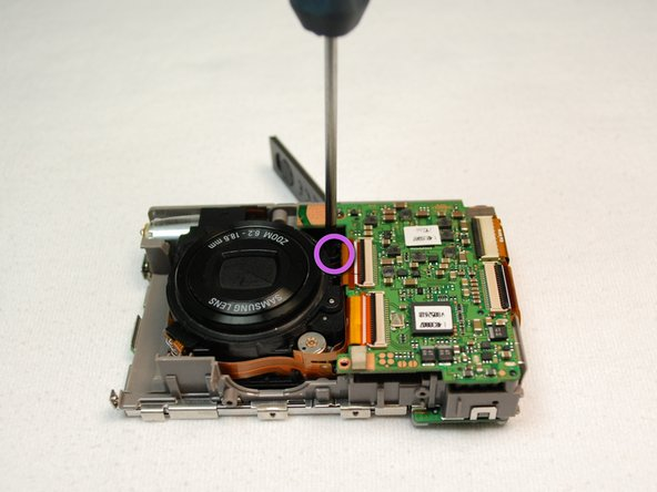 Remove four screws around lens.