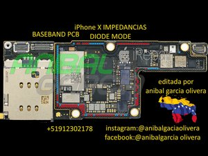 iphone x baseband pcb diode mode