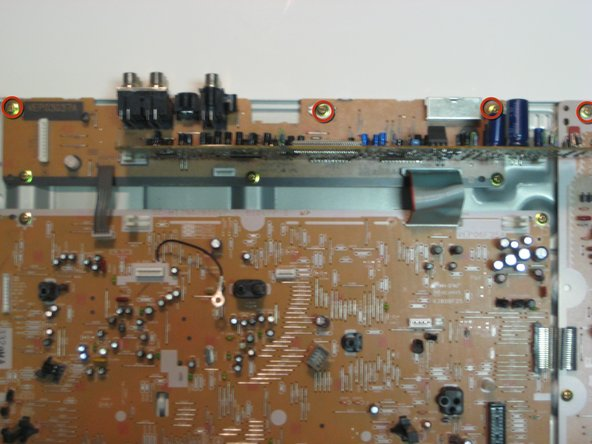 Before replacing the motherboard, it is crucial to understand that this device cannot be taken apart any further without breaking solder points. So the motherboard, screen and power supply must be replaced together.