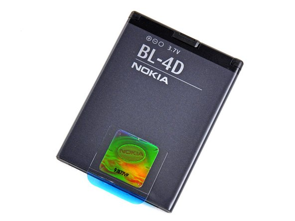 The BL-4D 3.7 V, 1200 mAh Li-Ion battery is considered non-removable. Sure Nokia, sure...