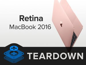 Retina MacBook 2016 Teardown