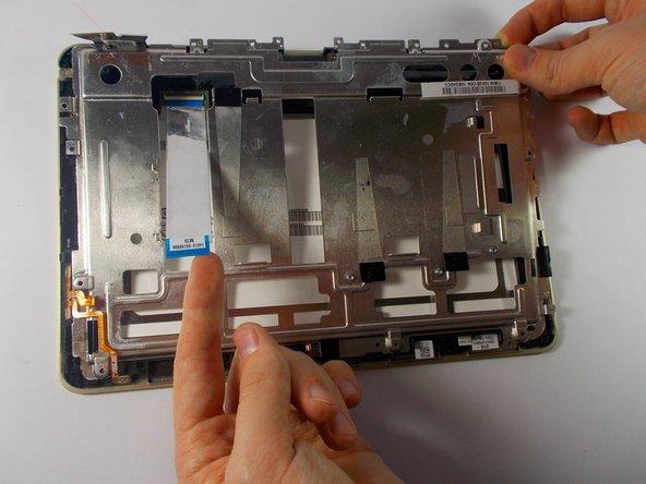 Carefully remove frame avoiding wires.