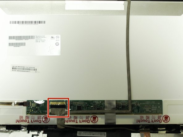 Locate the display connector on the back of the display.