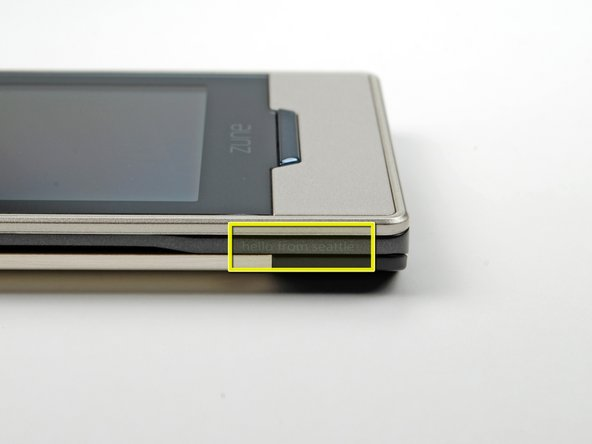 The Zune is lighter than it looks. It weighs in at only 2.6 oz (74 grams). That's more than 35% less than the similarly-sized iPod touch.