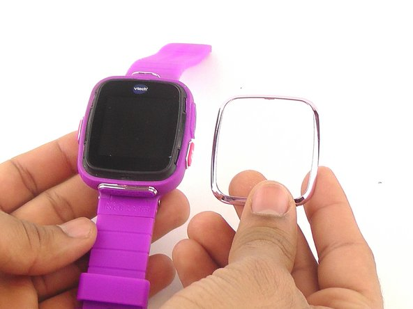 Pull the faceplate fully apart from the watch.